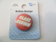 Class clown button badge (Code 0382)